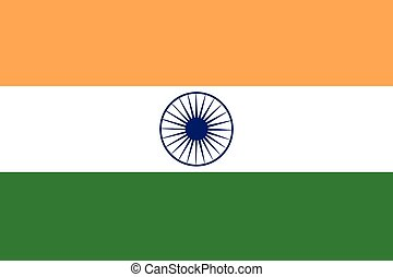 Illustration of the flag of India