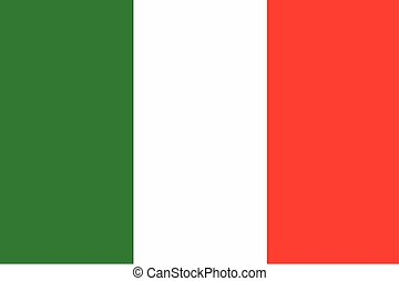 Illustration of the flag of Italy