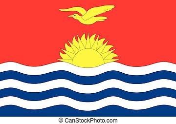 Illustration of the flag of Kiribati