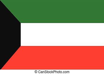 Illustration of the flag of Kuwait