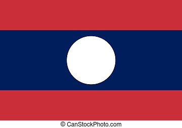 Illustration of the flag of Laos