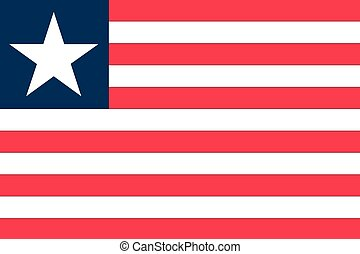 Illustration of the flag of Liberia