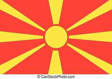 Illustration of the flag of Macedonia