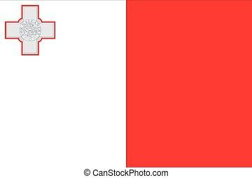Illustration of the flag of Malta