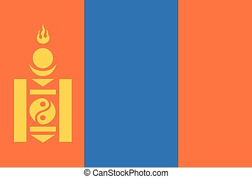 Illustration of the flag of Mongolia