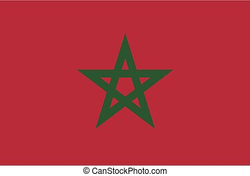 Illustration of the flag of Morocco