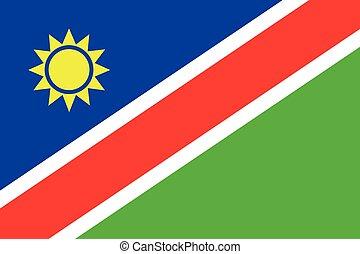 Illustration of the flag of Namibia