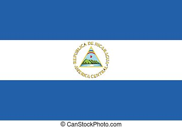 Illustration of the flag of Nicaragua