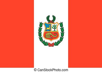 Illustration of the flag of Peru