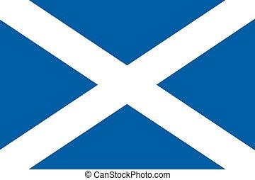 Illustration of the flag of Scotland