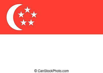 Illustration of the flag of Singapore