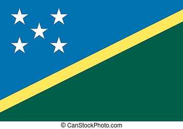 Illustration of the flag of Solomon Islands