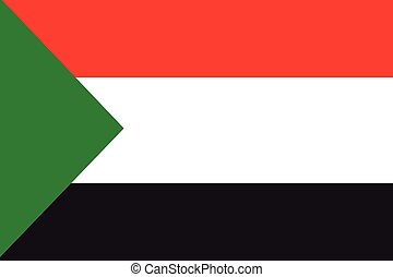 Illustration of the flag of Sudan