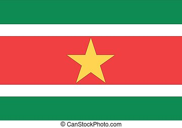 Illustration of the flag of Suriname