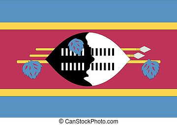 Illustration of the flag of Swaziland