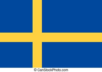 Illustration of the flag of Sweden
