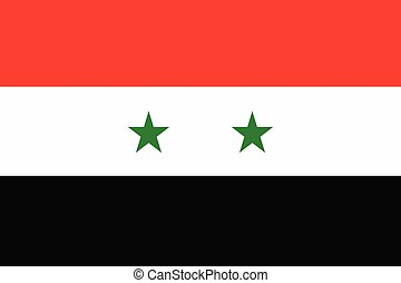 Illustration of the flag of Syria