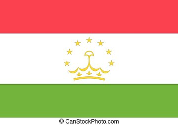 Illustration of the flag of Tajikistan
