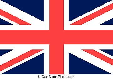 Illustration of the flag of the United Kingdom