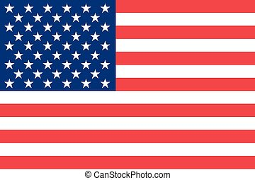 Illustration of the flag of the United States of America -...