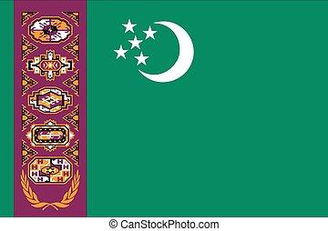 Illustration of the flag of Turkmenistan