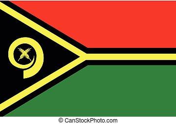 Illustration of the flag of Vanuatu