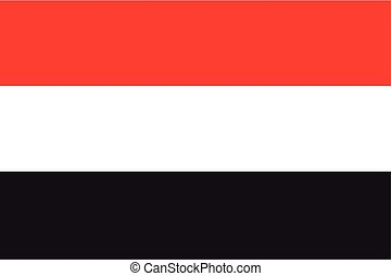 Illustration of the flag of Yemen