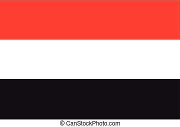 Illustration of the flag of Yemen