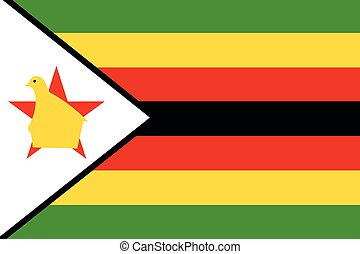Illustration of the flag of Zimbabwe