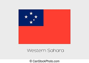 Illustration of the flag, with name, of the country of ...
