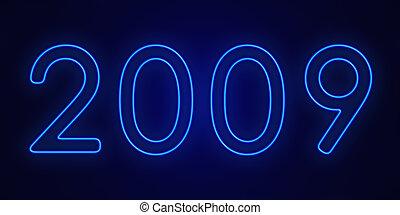 2009 in neon blue