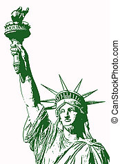 Liberty - An illustration of the Statue of Liberty.