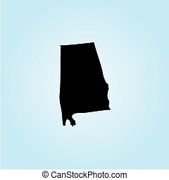 Illustration of the United States of America State - Alabama