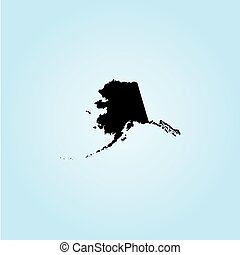 Illustration of the United States of America State - Alaska