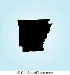 Illustration of the United States of America State - Arkansas