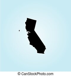 Illustration of the United States of America State - California