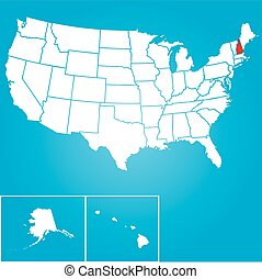 Illustration of the United States of America State - New ...