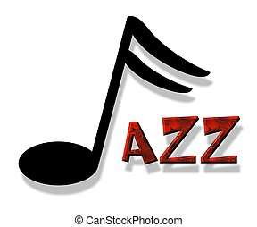 jazz - an illustration of the word jazz