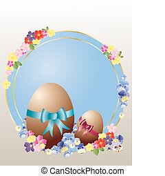 easter eggs - an illustration of two chocolate easter eggs ...