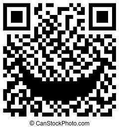 QR Code concept with a smile