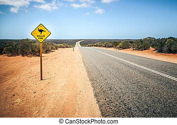 Australia road sign Mallee Fowl