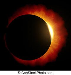 sun eclipse - An image of a beautiful sun eclipse