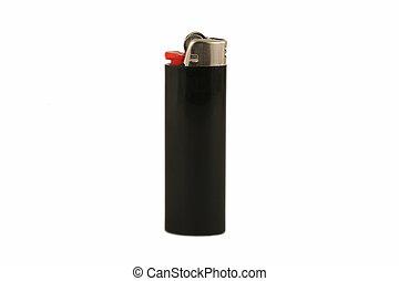 cigarette lighter - an image of a black cigarette lighter