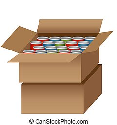 Canned Food Drive - An image of a Canned Food Drive bag.