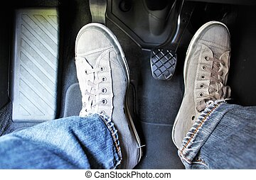 An image of a car pedal