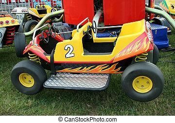 Childrens carnival car ride