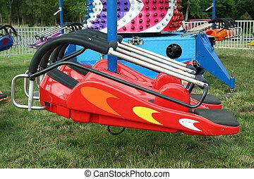 Childrens carnival spaceship ride