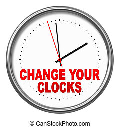 change your clocks - An image of a clock with the text...