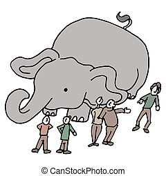 community of people elephant in the room - An image of a...
