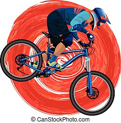 An image of a cyclist on a mountain bike